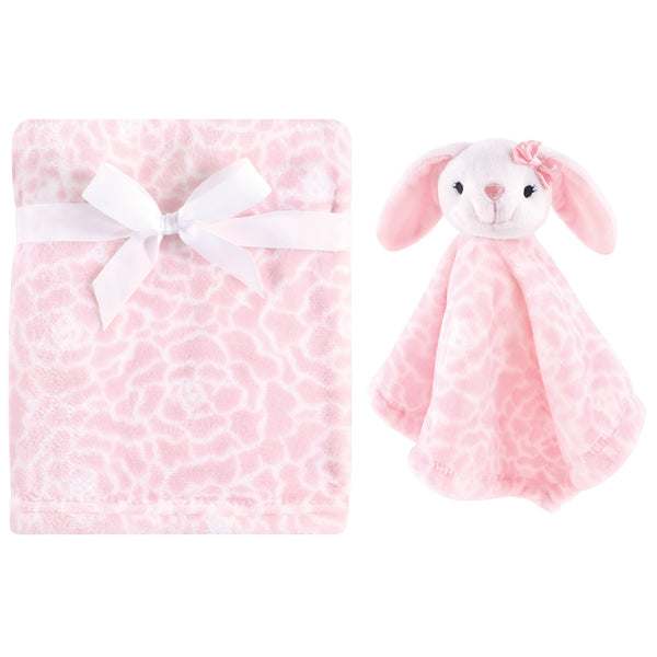 Hudson Baby Plush Blanket with Security Blanket, Bunny