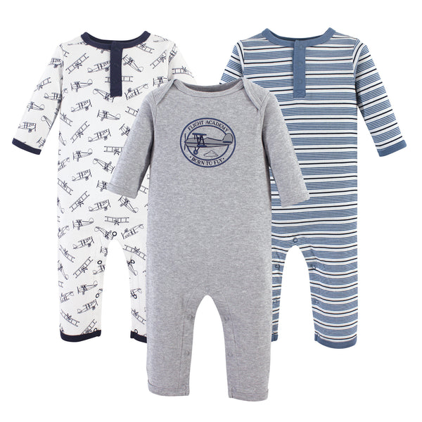 Hudson Baby Cotton Coveralls, Aviation