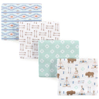 Hudson Baby Cotton Flannel Receiving Blankets, Teepee