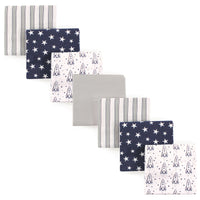 Hudson Baby Cotton Flannel Receiving Blankets Bundle, Rocket Ship