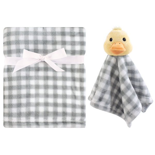 Hudson Baby Plush Blanket with Security Blanket, Duck