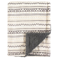Hudson Baby Plush Blanket with Sherpa Back, Aztec
