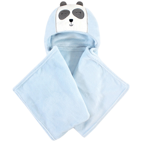 Hudson Baby Hooded Animal Face Plush Blanket, Modern Panda
