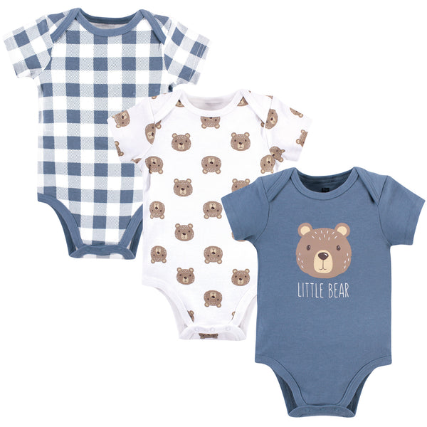 Hudson Baby Cotton Bodysuits, Little Bear