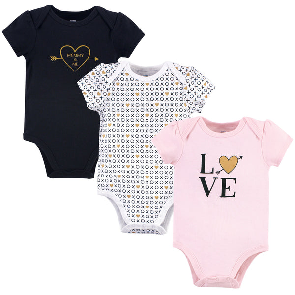 Hudson Baby Cotton Bodysuits, Love Xoxo
