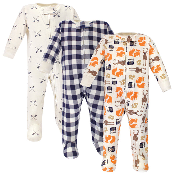 Hudson Baby Cotton Sleep and Play, Forest