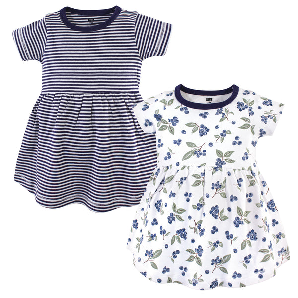 Hudson Baby Cotton Dresses, Blueberries