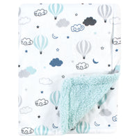 Hudson Baby Plush Blanket with Sherpa Back, Hot Air Baloon