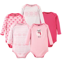 Hudson Baby Cotton Long-Sleeve Bodysuits, Sheep