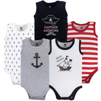 Hudson Baby Cotton Sleeveless Bodysuits, Pirate Ship