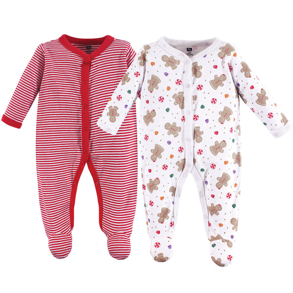 Hudson Baby Cotton Sleep and Play, Sugar Spice