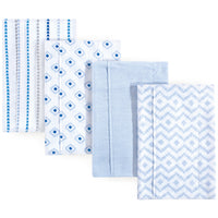 Hudson Baby Cotton Flannel Burp Cloths, Boy Modern