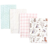 Hudson Baby Cotton Flannel Burp Cloths, Enchanted Forest