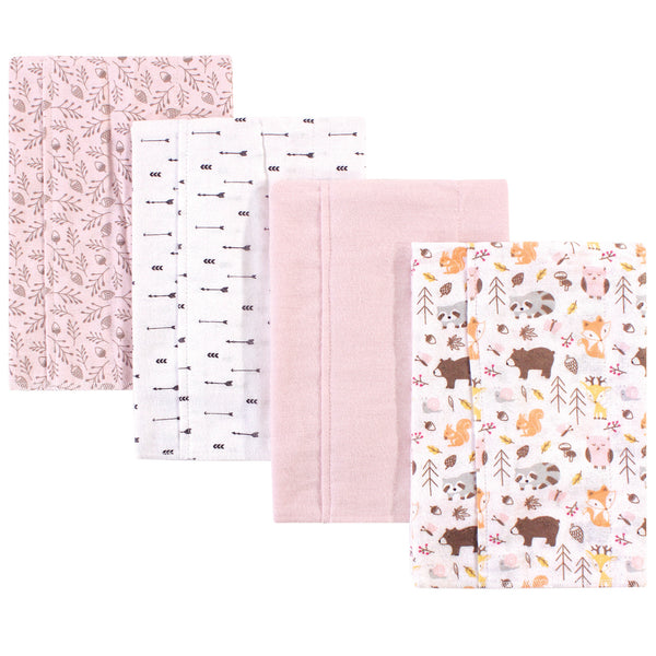 Hudson Baby Cotton Flannel Burp Cloths, Girl Pinecone