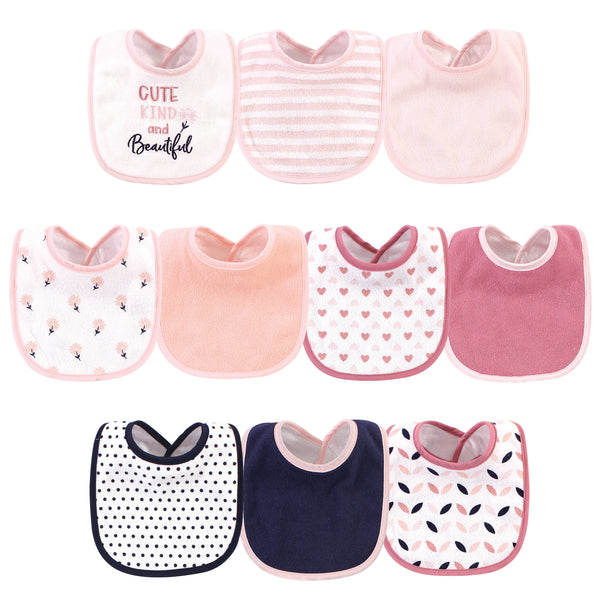 Hudson Baby Cotton and Polyester Bibs, Cute, Kind And Beautiful