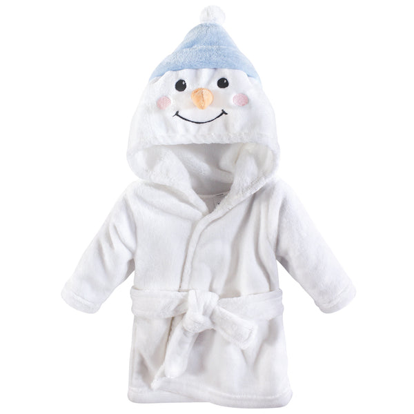Hudson Baby Plush Animal Face Bathrobe, Snowman