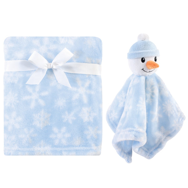 Hudson Baby Plush Blanket with Security Blanket, Snowman