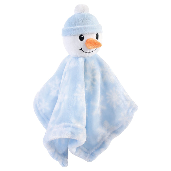 Hudson Baby Animal Face Security Blanket, Snowman