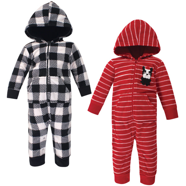 Hudson Baby Fleece Jumpsuits, Coveralls, and Playsuits, Christmas Dog Baby