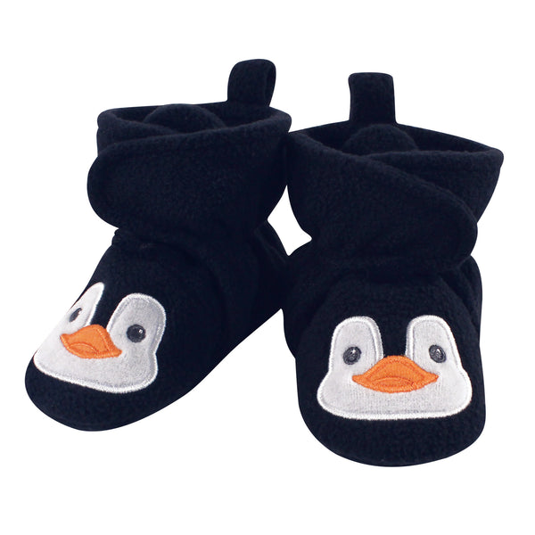 Hudson Baby Cozy Fleece Booties, Navy Penguin