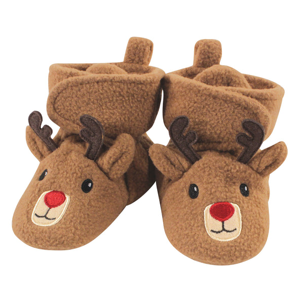 Hudson Baby Cozy Fleece Booties, Reindeer