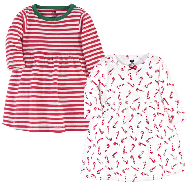 Hudson Baby Cotton Dresses, Candy Cane