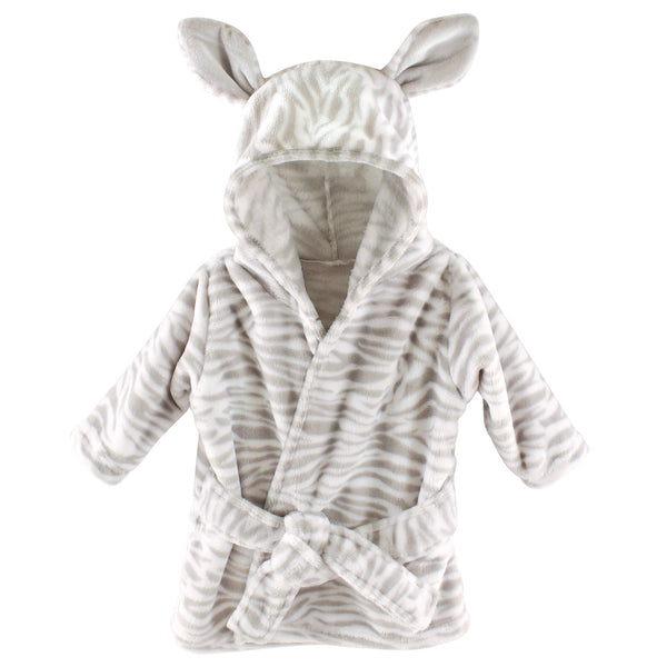 Hudson Baby Plush Animal Face Bathrobe, Zebra
