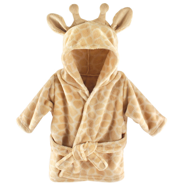 Hudson Baby Plush Animal Face Bathrobe, Giraffe