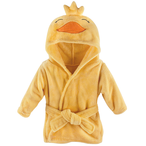 Hudson Baby Plush Animal Face Bathrobe, Yellow Duck