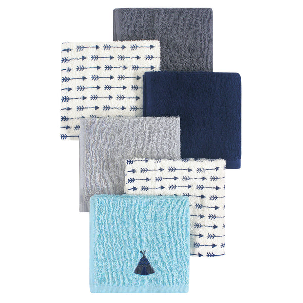 Hudson Baby Super Soft Cotton Washcloths, Teepee