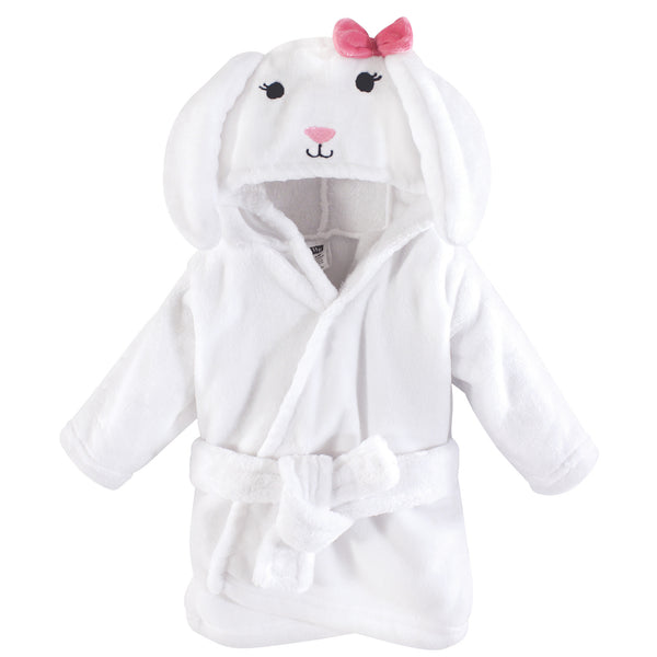 Hudson Baby Plush Animal Face Bathrobe, Bunny