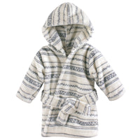 Hudson Baby Plush Animal Face Bathrobe, Aztec