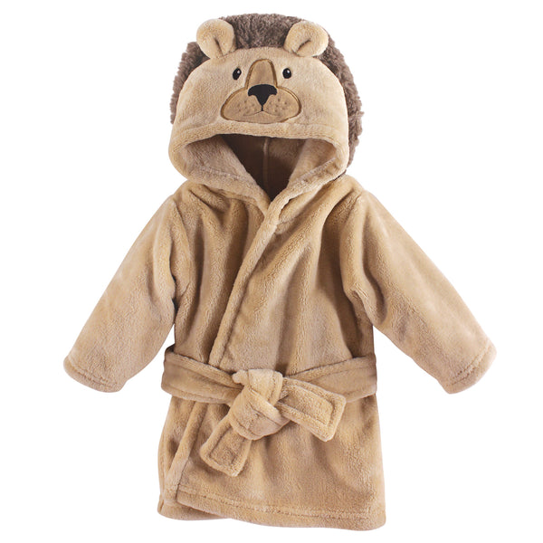 Hudson Baby Plush Animal Face Bathrobe, Lion