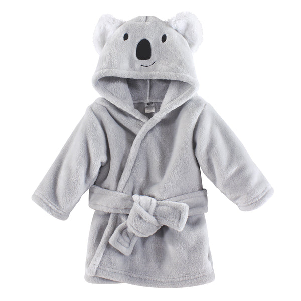 Hudson Baby Plush Animal Face Bathrobe, Koala