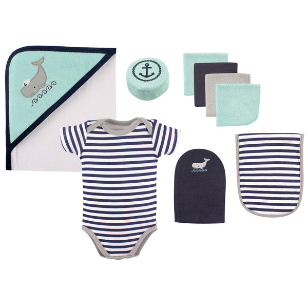 Hudson Baby Bathtime Giftset, Whale