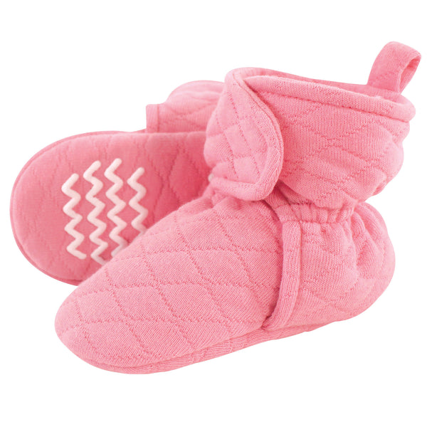 Hudson Baby Quilted Booties, Begonia
