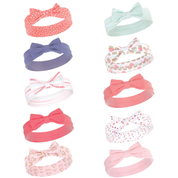 Hudson Baby Cotton and Synthetic Headbands, Cupcake