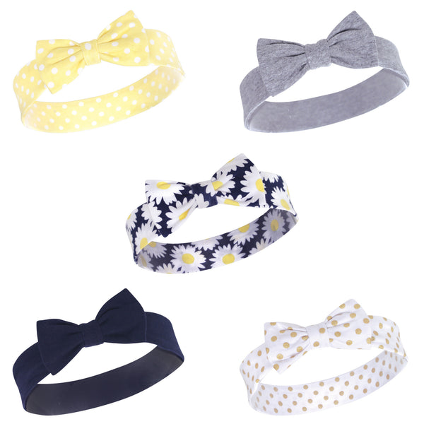 Hudson Baby Cotton and Synthetic Headbands, Daisy