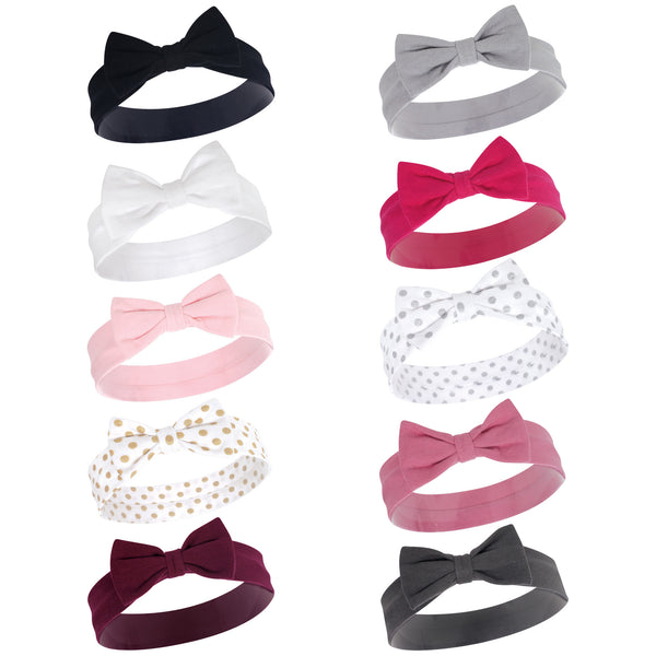 Hudson Baby Cotton and Synthetic Headbands, Classic Bow