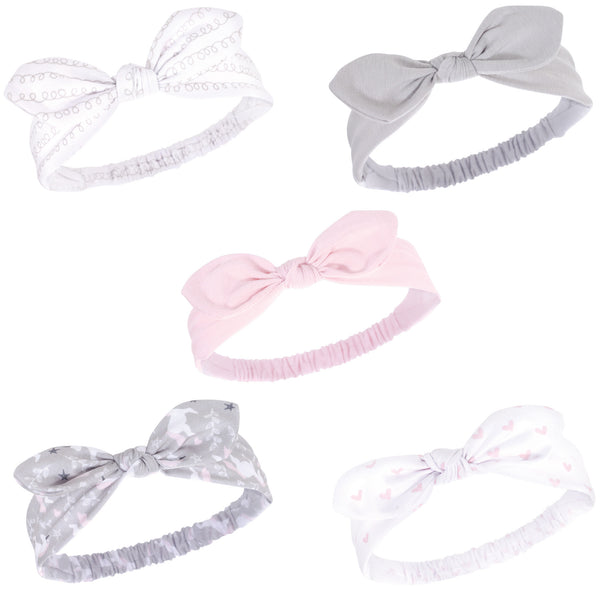 Hudson Baby Cotton and Synthetic Headbands, Gray Unicorn