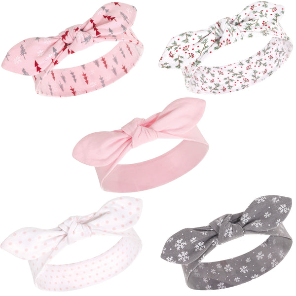 Hudson Baby Cotton and Synthetic Headbands, Winter Forest