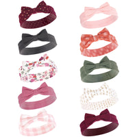 Hudson Baby Cotton and Synthetic Headbands, Fall Floral