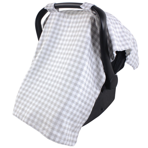 Hudson Baby Reversible Car Seat and Stroller Canopy, Gray Gingham