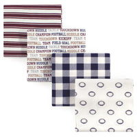 Hudson Baby Cotton Flannel Receiving Blankets, Football