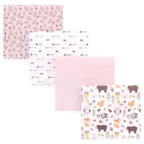 Hudson Baby Cotton Flannel Receiving Blankets, Girl Pinecone