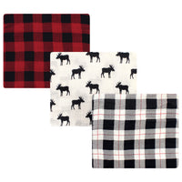 Hudson Baby Cotton Muslin Swaddle Blankets, Moose