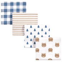 Hudson Baby Cotton Flannel Receiving Blankets, Little Bear