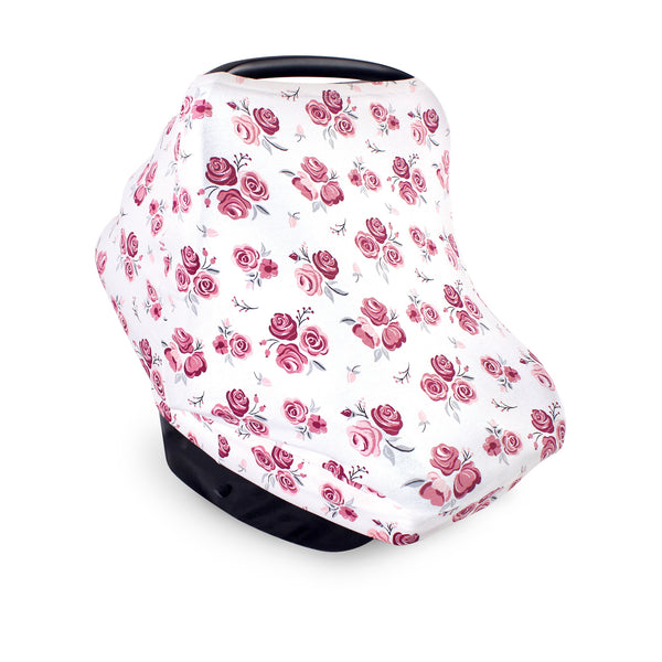 Hudson Baby Multi-use Car Seat Canopy, Roses