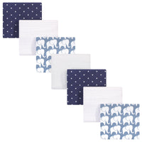 Hudson Baby Cotton Flannel Receiving Blankets Bundle, Boy Elephant