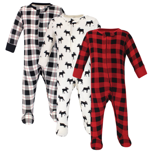 Hudson Baby Cotton Sleep and Play, Moose